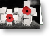 Soldier Photo Greeting Cards - In Remembrance Greeting Card by Jane Rix