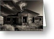 Oregon Photo Greeting Cards - In Ruin Greeting Card by Mike  Dawson