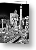 Ancient Prints Greeting Cards - In Ruins Greeting Card by John Rizzuto