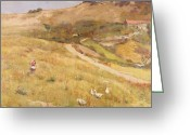 Open Road Painting Greeting Cards - In Summertime  Greeting Card by Frederick William Jackson