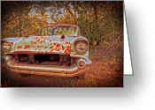 Car Photographs Greeting Cards - In the backwoods Greeting Card by Toni Hopper