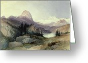 Thomas Moran Greeting Cards - In the Bighorn Mountains Greeting Card by Thomas Moran