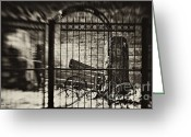 Artography Greeting Cards - in the Blacksmiths Yard Greeting Card by Jayne Logan