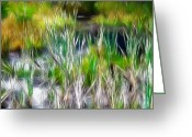 Grass Pastels Greeting Cards - In the bog Greeting Card by Stefan Kuhn
