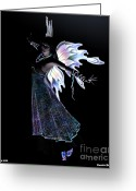 Fantasy Greeting Cards - In the Dark Greeting Card by Amanda Partenheimer