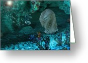 Meditative Greeting Cards - In The Deep Greeting Card by Patricia Motley