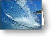 Surf Art Greeting Cards - In the Eye Greeting Card by Paul Topp