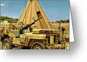 Military Vehicle Greeting Cards - In the Field Greeting Card by Dale Jackson