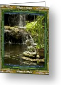 Contemplative Greeting Cards - In the Flow Greeting Card by Bell And Todd