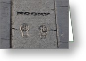 Philly Digital Art Greeting Cards - In the Footsteps of Rocky Greeting Card by Bill Cannon