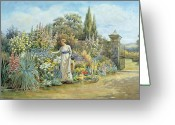 Jardins Greeting Cards - In the Garden Greeting Card by William Ashburner