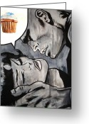 Kissing Greeting Cards - In the Heat of the Moment Greeting Card by Ryan Jones