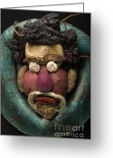 Michael Jackson Photo Greeting Cards - In the Manner of Arcimboldo Greeting Card by Warren Sarle