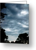 Cumulus Cloud Greeting Cards - In The Midst Of A Storm Greeting Card by Andee Photography