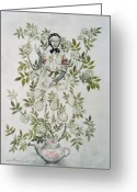 Rackham Greeting Cards - In the Midst of a Tree sat a Kindly Looking Old Woman Greeting Card by Arthur Rackham