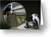 Antique Automobile Greeting Cards - In the Mirror Greeting Card by Dennis Hedberg