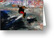 Action Sport Art Greeting Cards - In the moment Greeting Card by David Lee Thompson