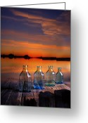 Old Digital Art Greeting Cards - In the morning at 4.33 Greeting Card by Veikko Suikkanen