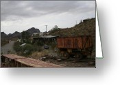 Oatman Greeting Cards - In The Old Mining Town Greeting Card by Christopher Kirby