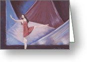 Stage Pastels Greeting Cards - In the Spotlight Greeting Card by Mary Benke