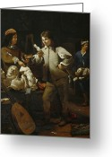 Sculptors Greeting Cards - In the Studio Greeting Card by Michael Sweerts