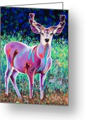 Imaginary Realism Greeting Cards - In the Velvet Greeting Card by Bob Coonts