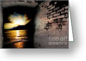 Beach Landscapes Greeting Cards - In to the light  Greeting Card by Christopher  Ward