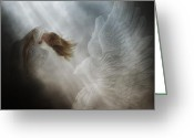 Angel Statue Greeting Cards - In vain Greeting Card by Gun Legler