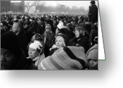 U.s.a. President Greeting Cards - Inauguration crowd 2009 Greeting Card by Robert Ulmer