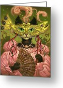 Black Cat Greeting Cards - Incatneato Greeting Card by Jeff Haynie