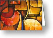 Colorful Photography Painting Greeting Cards - Inception of Abstract 6 Greeting Card by Uma Devi