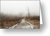 Dismal Greeting Cards - Inclement Autumn Landscape Greeting Card by Michal Boubin