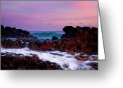 Dusk Greeting Cards - Incoming Wave Greeting Card by Mike  Dawson