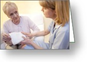 Consoling Greeting Cards - Incontinence Pad Greeting Card by