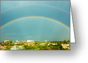 Campinas Greeting Cards - Incredible Rainbow Greeting Card by Wagner Macedo