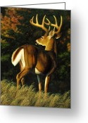 Wildlife Greeting Cards Prints Painting Greeting Cards - Indecision Greeting Card by Crista Forest