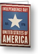 July 4th 1776 Greeting Cards - Independence Day Greeting Card by Phil Perkins