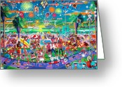 4th July Greeting Cards - Independence Day Venice Style Greeting Card by Frank Strasser