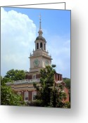 Independence Hall Greeting Cards - Independence Hall - Philadelphia Greeting Card by Frank Mari