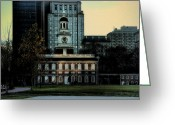 Independence Hall Greeting Cards - Independence Hall - The Cradle of Liberty Greeting Card by Bill Cannon