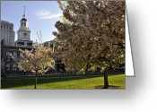 Hall Greeting Cards - Independence Hall Greeting Card by Andrew Dinh