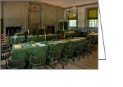 Signature Photo Greeting Cards - Independence Hall in Philadelphia Greeting Card by Olivier Le Queinec