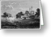 Minaret Greeting Cards - INDIA: DELHI, 19th CENTURY Greeting Card by Granger