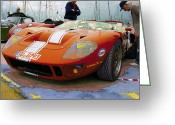 Photo-realism Digital Art Greeting Cards - Indian Chief Ford GT40 Greeting Card by Kenneth Breeze