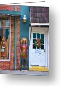 Store Fronts Greeting Cards - Indian Chief Greeting Card by Jan Amiss Photography
