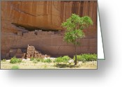 Old Relics Greeting Cards - Indian Cliff Dwellings Greeting Card by Thom Gourley/Flatbread Images, LLC