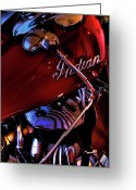 V Twin Greeting Cards - Indian Motorcycle Greeting Card by David Patterson
