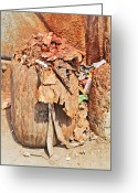 Spreads Greeting Cards - Indian Spitoon Disgusting Greeting Card by Kantilal Patel
