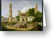 Minarets Greeting Cards - Indian Temple Greeting Card by Thomas Daniell