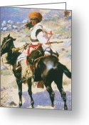  Tribal Prints Greeting Cards - Indian Trapper Greeting Card by Pg Reproductions